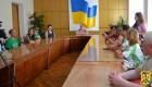 В приміщенні виконавчого комітету міської ради відбулась прес-конференція учасників ІІ щорічного Всеукраїнського велопробігу «Бачу! Можу! Допоможу!».